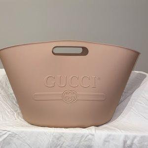Gucci Pink Rubber Tote